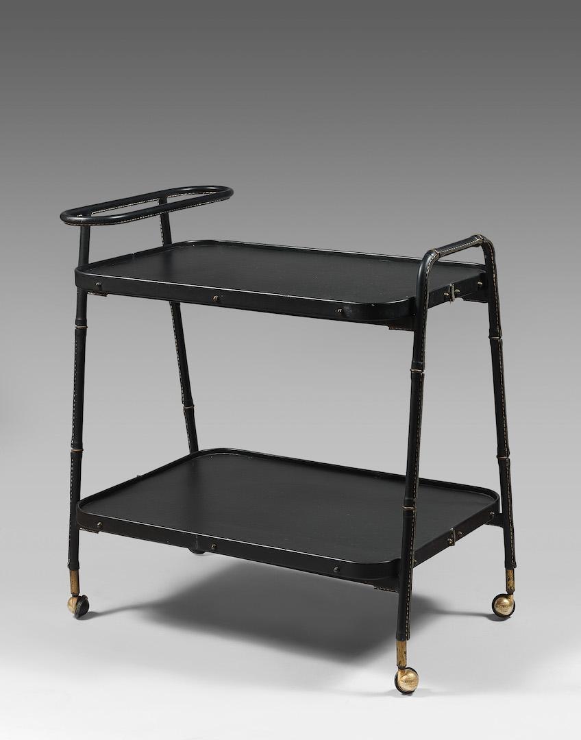 Jacques adnet table roulante design - Table roulante design ...