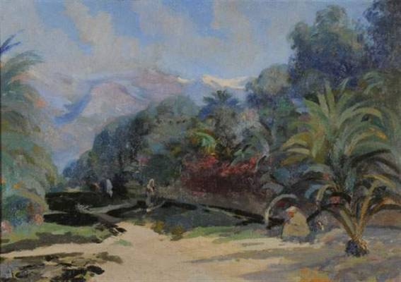 Elie Pavil, vue de l'Atlas, tableau