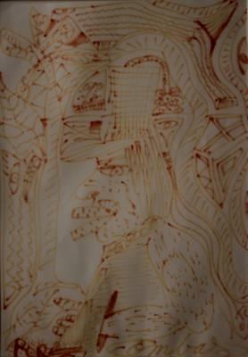Robert Combas, l'homme au chapeau, dessin
