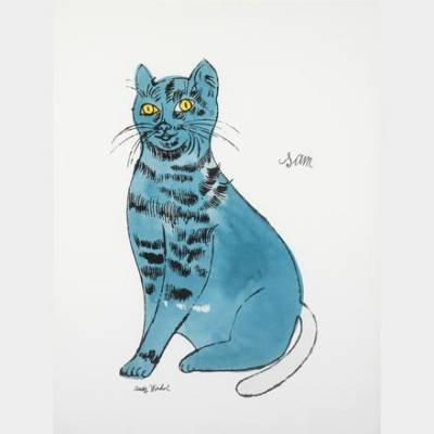 Andy Warhol - Sam Blue Cat - Offset lithographie