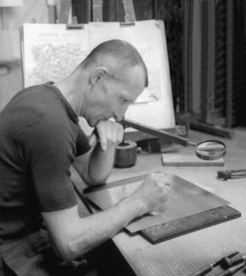 Albert Decaris, un maître de la gravure