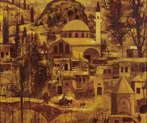 Ali Demir, ville imaginaire, tableau