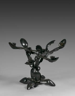 Arman, Spoon candlestick, bronze