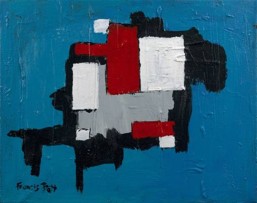 Francis Bott, Composition, huile sur toile