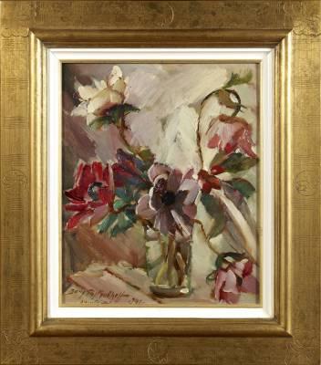 Boris Pastoukhoff, bouquet, tableau