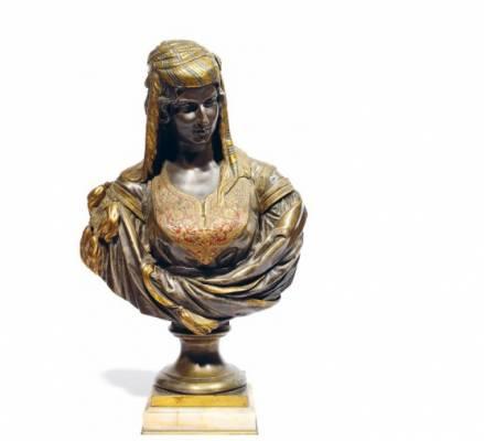 Charles Cordier, juive d'Alger, sculpture en bronze
