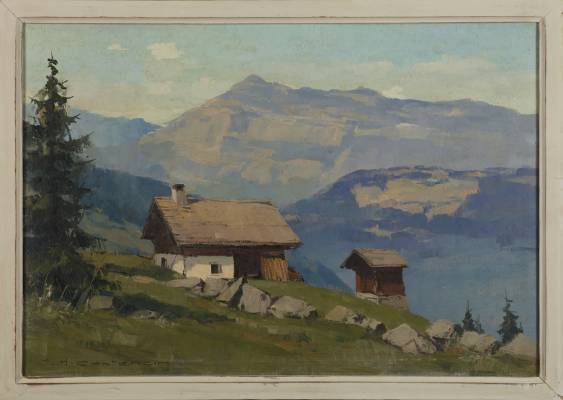 Charles Henri Contencin, Chalets d'été, tableau