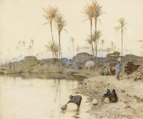Charles Wilda, au bord de l'Oued