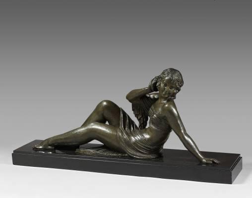 Dimitri Chiparus, Echo, bronze
