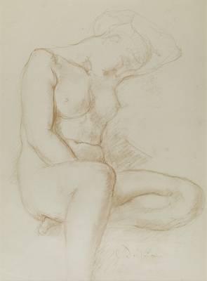 Charles Despiau, femme nue, dessin sanguine