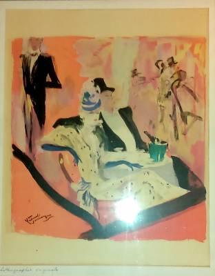 Jean Gabriel Domergue, les parisiennes, lithographie