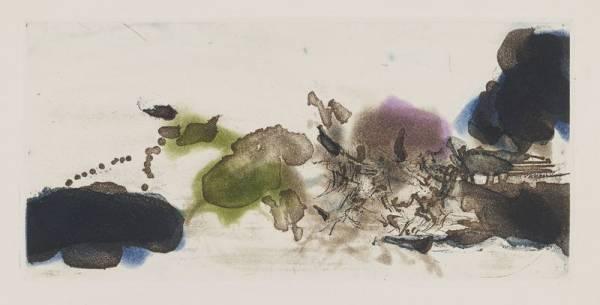 Zao Wou Ki, L'Etang, gravures