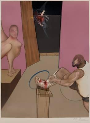 Francis Bacon, Œdipe et le sphinx, lithographie