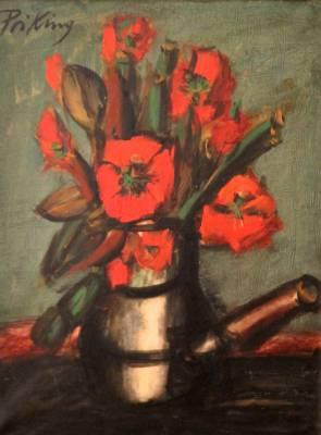Franz Priking, bouquet, tableau
