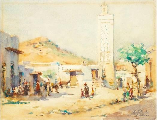 Gilbert Galland, Medrania, aquarelle