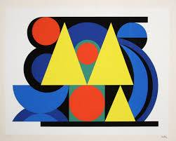 Auguste Herbin, Alphabet Plastique, sérigraphie