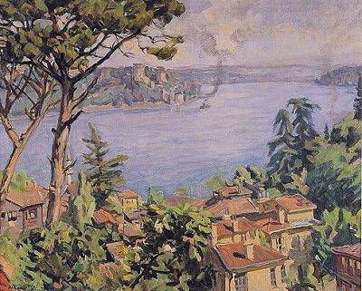 Hikmet Onat, peintre turc  impressionniste
