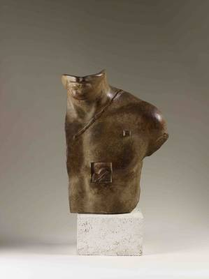 Igor Mitoraj Aesclepios, bronze à patine brune nuancée