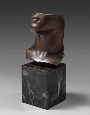 Igor Mitoraj, portrait d'homme, bronze