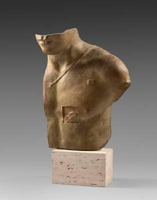 Igor Mitoraj, Aesclepios, sculpture en bronze