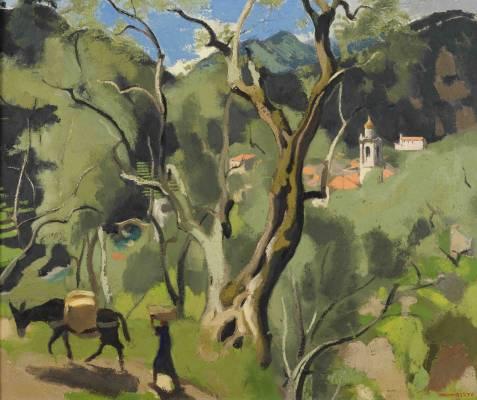 Joseph Ingimberty, paysage , vente aux enchères