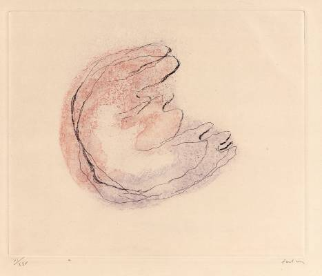 Jean Fautrier, Baby Mine, estampe