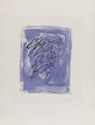 Jean Fautrier, griffures sur fond violet