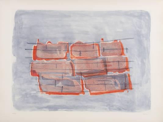 Jean Fautrier, construction, gravure