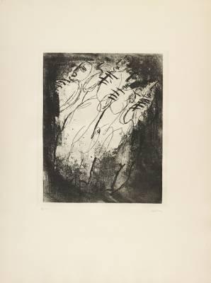 Jean Fautrier, Les Fusillés gravure,