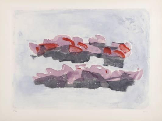 Jean Fautrier, rochers, gravure