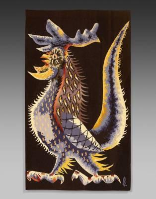 Jean Lurçat, le coq guerrier, tapisserie