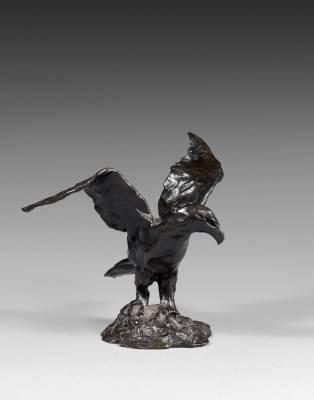 Jose Maria David, l'aigle aux ailes déployés, bronze