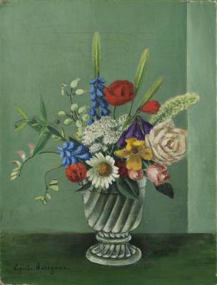Kiyoshi Hasegawa, bouquet, tableau