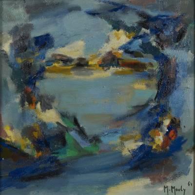 Marcel Mouly, le lac, huile