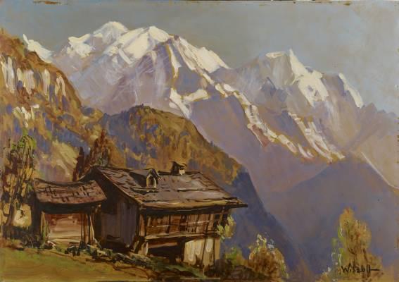 Marcel Wibault, vue sur le Mont Blanc