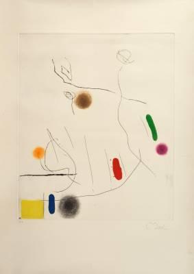 Juan Miro, Composition, gravure