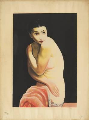 Moïse Kisling, lithographie, Kiki