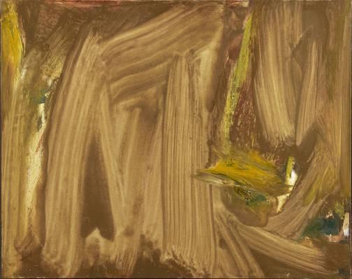 Olivier Debré, la Tache jaune vivante, tableau