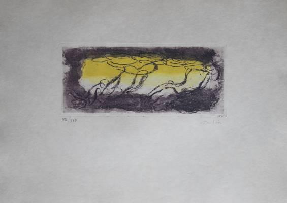 Fautrier Jean - Paysage jaune et violet