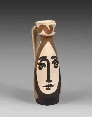 Pablo Picasso, visage, céramique 1955