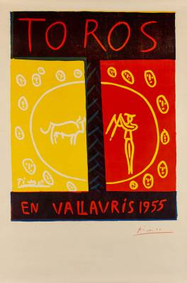 Pablo Picasso, Toros in Vallauris, estampe