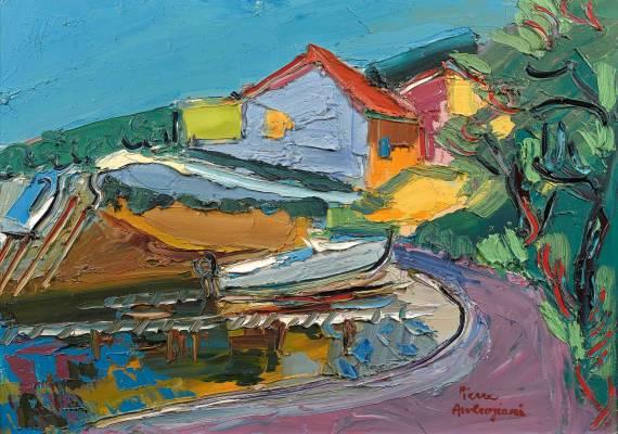 Pierre Ambrogiani, le port de Tamaris, tableau