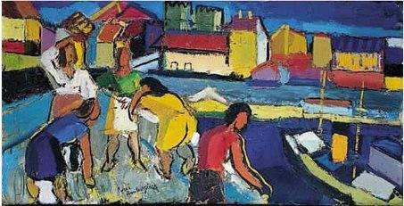 Pierre Ambrogiani, Au marché, tableau