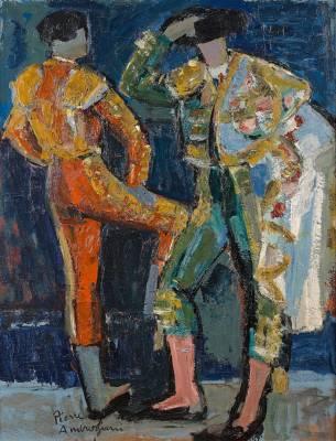 Pierre Ambrogiani, les deux toréadors, tableau