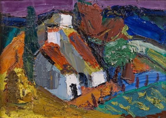 Pierre Ambrogiani, La ferme du Sire Sauxt Vaucluse, tableau,