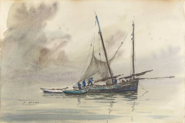 Pierre Brette, besquine, dessin