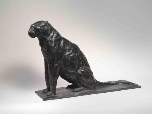 Rembrandt Bugatti, le léopard assis, bronze