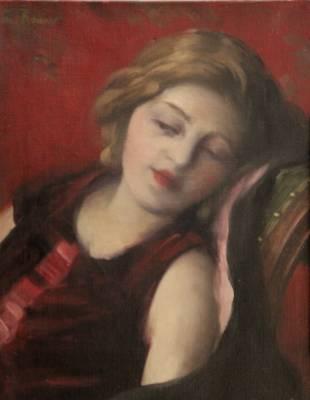 Ernest Rouart, jeune femme alanguie, tableau