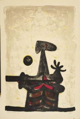 Rufino Tamayo, composition, lithographie
