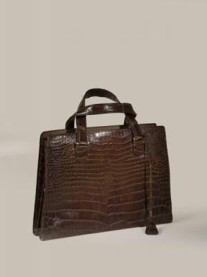 Hermes, Sac Pullman en crocodile marron